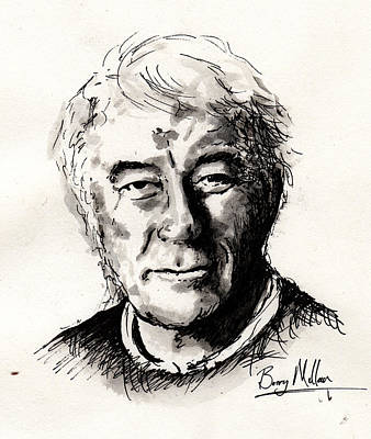 Physiology Painting - Seamus Heaney by Barry Mullan