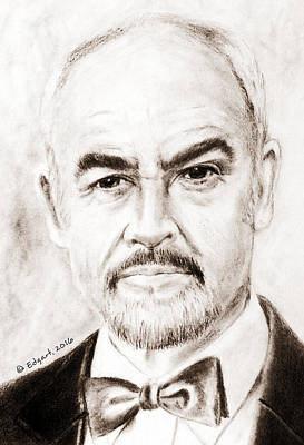 Drawing - Sean Connery by Edgar Torres