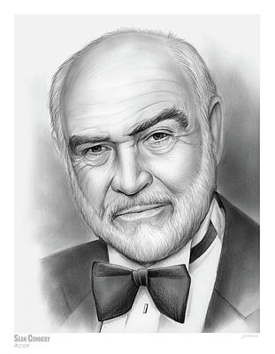 Drawings Rights Managed Images - Sean Connery Royalty-Free Image by Greg Joens
