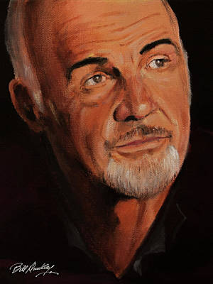 Sean Connery Painting - Sean Connery Portrait by Bill Dunkley