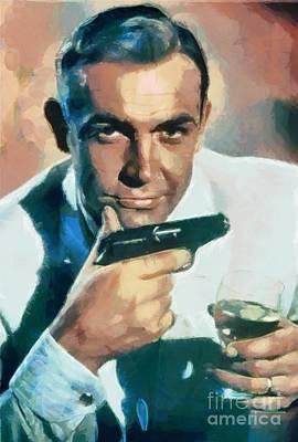 James Bond Film Painting - Sean Connery by Sergey Lukashin