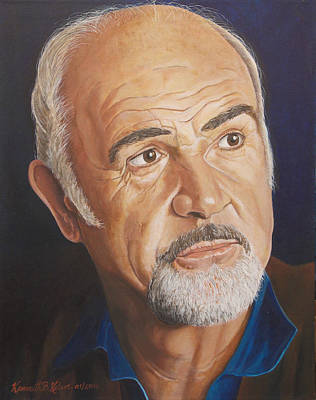 Sean Connery Painting - Sean by Kenneth Kelsoe