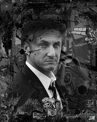 Woody Allen Digital Art - Sean Penn by Eric Amsellem