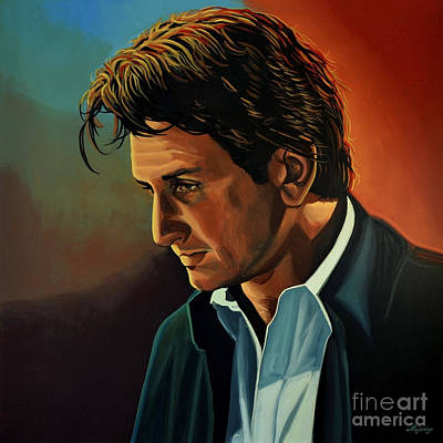 Sean Penn Art Print by Paul Meijering