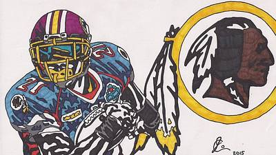 Drawing - Sean Taylor by Jeremiah Colley