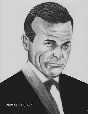 Photograph - Sean Connery Pencil Drawing Digital Art by Roy Williams