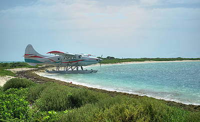 Photograph - Seaplane On Dry Tortugas by Timothy Lowry
