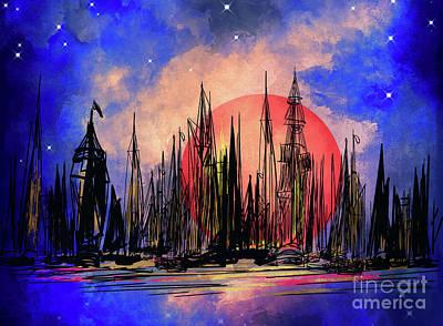 Digital Art - Seaport by Andrzej Szczerski