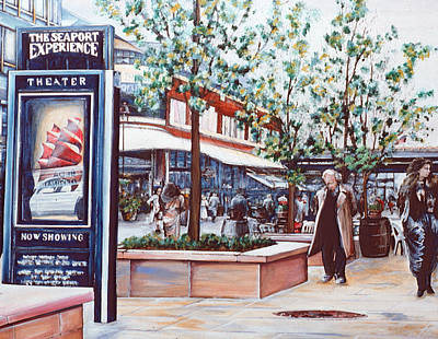 Wall Art - Painting - Seaport Senario, New York City by Gaye Elise Beda