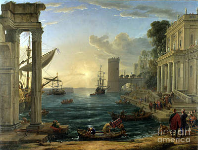 Blog Painting - Seaport With The Embarkation Of The Queen Of Sheba by Claude Gelle Lorrain