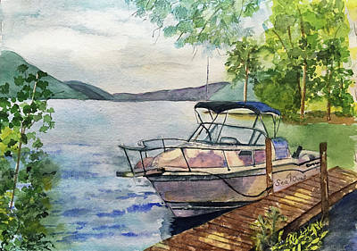 Painting - Seaquel At Rest by Lynne Atwood