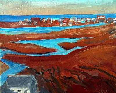 Sea Marsh Sunset- Wells Beach Original by Max Bowermeister