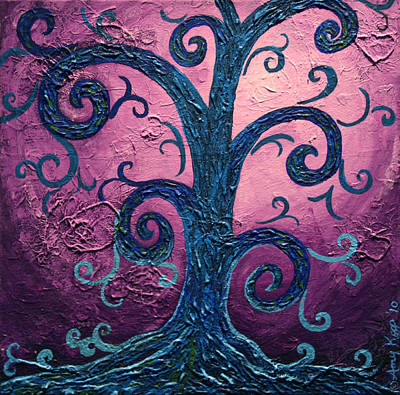 Tree Roots Painting - Searching by Amy Parker