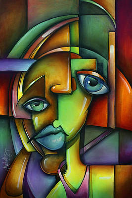 Urban Expressions Painting - 'searching For Eve' by Michael Lang