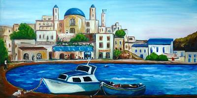 Seascape Painting - Searching For Santos by Therese Alcorn