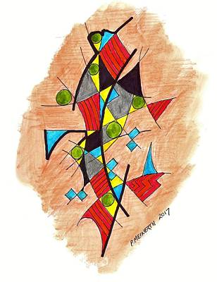 Drawing - Searching Miro by Paul Meinerth