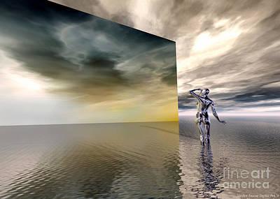 Searching Art Print by Sandra Bauser Digital Art