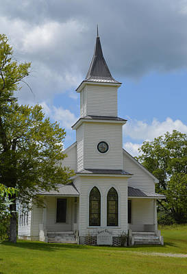 Photograph - Sears Chapel Methodist Church by rd Erickson