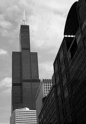 Sears Tower B-w Art Print by Ely Arsha