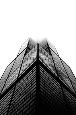 Photograph - Sears Tower In Cluds by Sebastian Musial