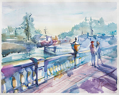 Searstone Lake Original by Lyudmila Tomova