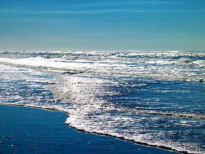 Seas Of Blue Art Print by Mg Blackstock