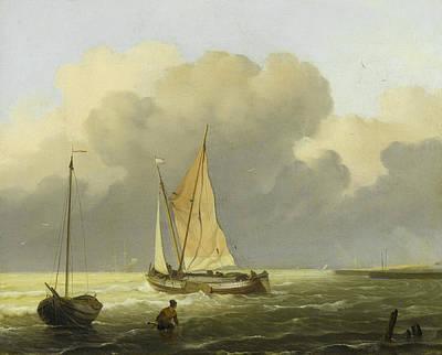 Seas Off The Coast Art Print by Ludolf Bakhuysen