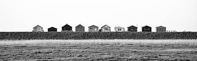 Photograph - Seasalter Huts by Kelvin Trundle
