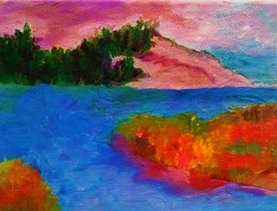 Painting - Seascape 1 by Linda Lavid