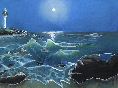 Dave Hancock Pastel - Seascape-11 by Dave Hancock
