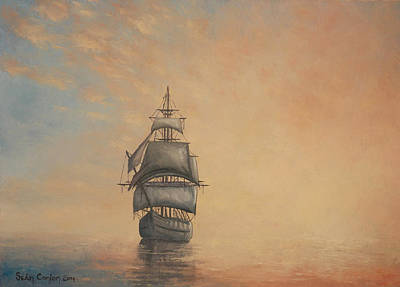 Ghost Ship Painting - Seascape 4 Ghost Ship by Sean Conlon
