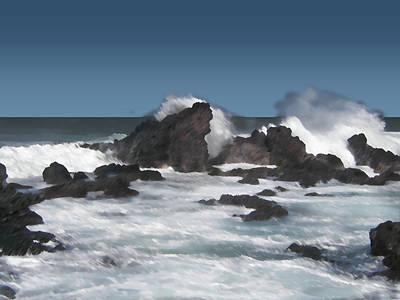 Digital Art - Seascape 6 by Michaelalonzo Kominsky