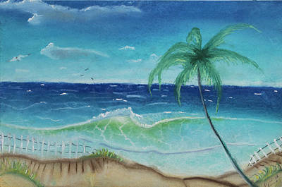 Dave Hancock Pastel - Seascape 7 by Dave Hancock