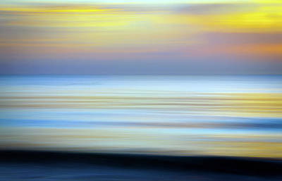 Intentional Camera Movement Photograph - Seascape Abstract by R Scott Duncan