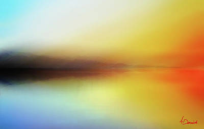 Abstract Seascape Digital Art - Seascape by Ahmed Darwish