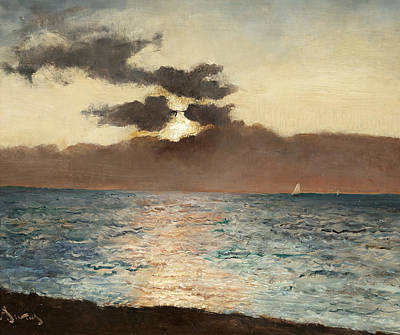 Sea View Painting - Seascape by Alfred Emile Stevens