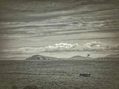 Photograph - Seascape Blasket Island Bw by Leif Sohlman