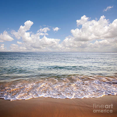 Cloudy Photograph - Seascape by Carlos Caetano