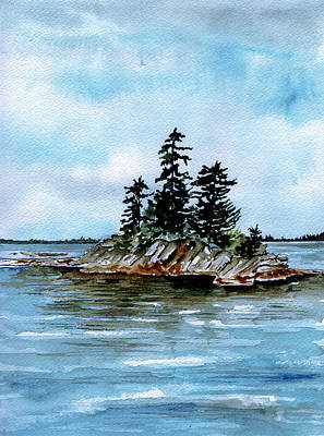 Painting - Seascape Casco Bay Maine by Brenda Owen