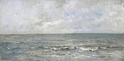 Realism Painting - Seascape by Charles-Francois Daubigny
