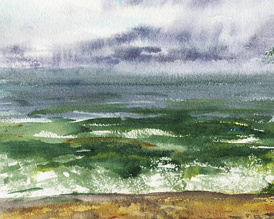 Painting - Seascape Emerald Ocean by Irina Sztukowski