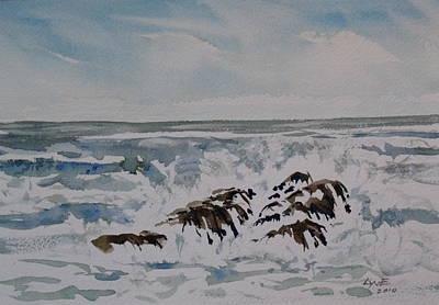 Seascape Ester Lee Art Print by Lynne Haines