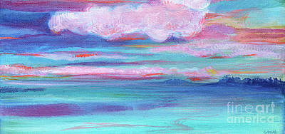 Painting - Seascape Fantasy by Expressionistart studio Priscilla Batzell