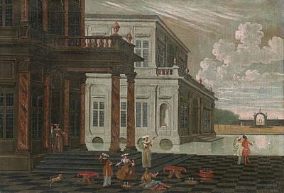 Flemish School Painting - Seascape by Celestial Images