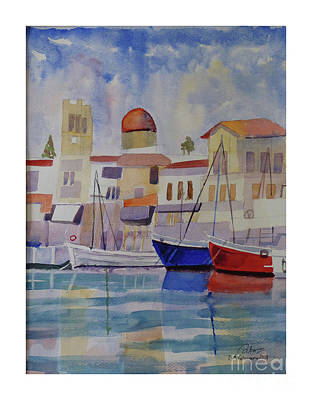 Painting - Seascape Greece by Godwin Cassar