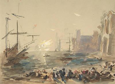 Drawing - Seascape by Treasury Classics Art
