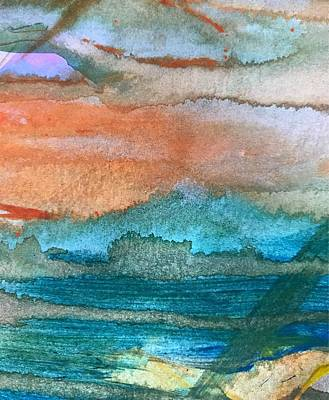 Mixed Media - Seascape I by Jason Nicholas