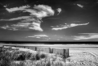 Photograph - Seascape In Black And White by Carolyn Derstine