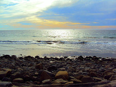 Photograph - Seascape In Thirds by Nadalyn Larsen