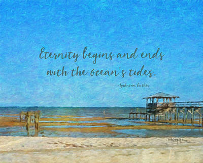 Photograph - Seascape - Inspirational Seashore Quote by Rebecca Korpita